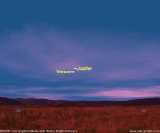 Venus and Jupiter Get Together