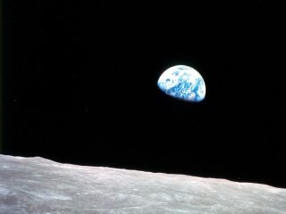The Apollo 8 astronauts broadcast never-before views of the Earth and moon on December 24, 1968.