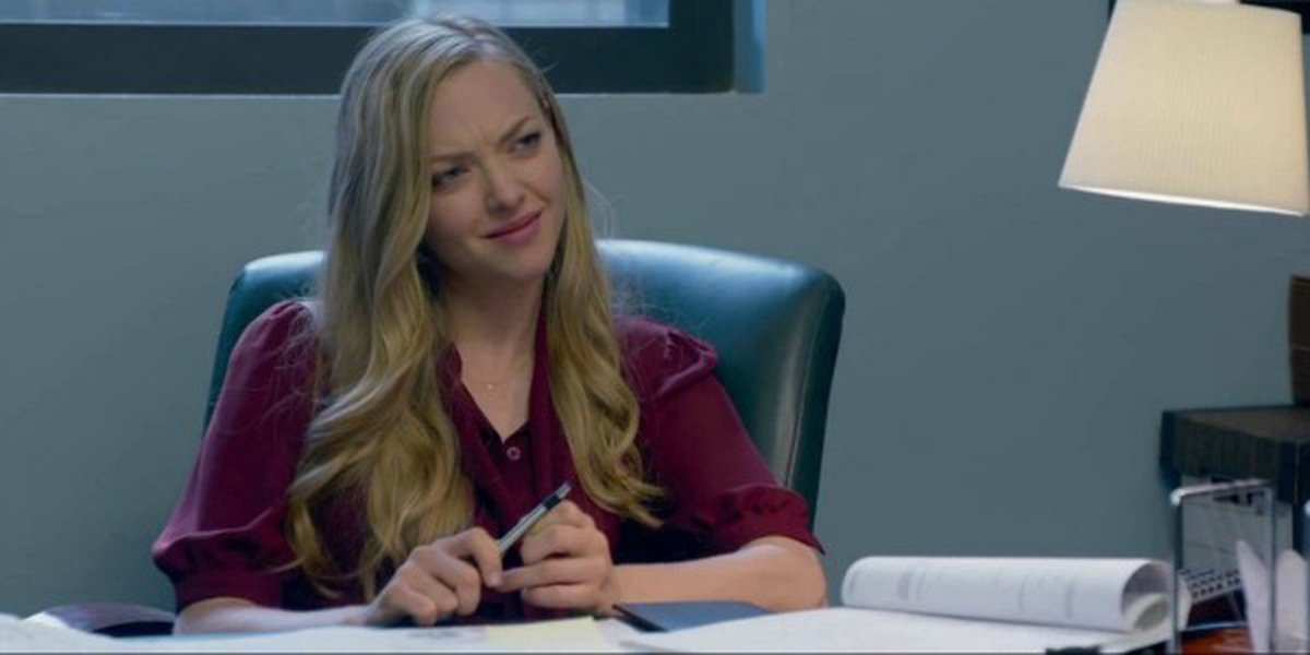 Amanda Seyfried as Samantha at her office in Ted 2.