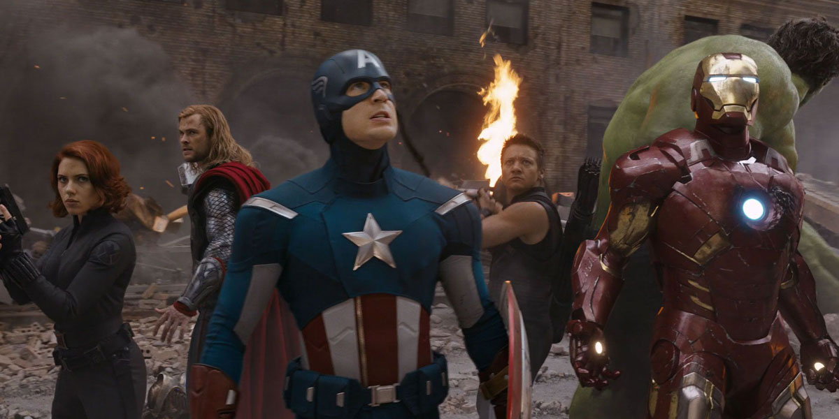 Captain America and other Avengers do Charity Work