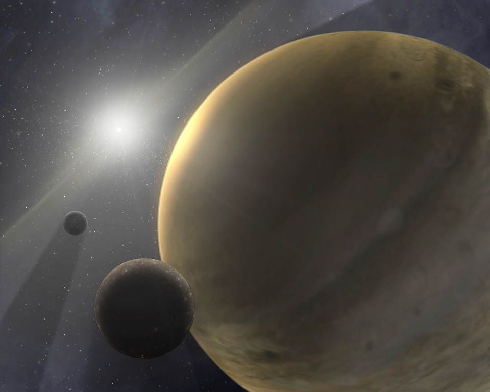 Gas giant exoplanet with weirdly long orbit may bear clues about our solar system