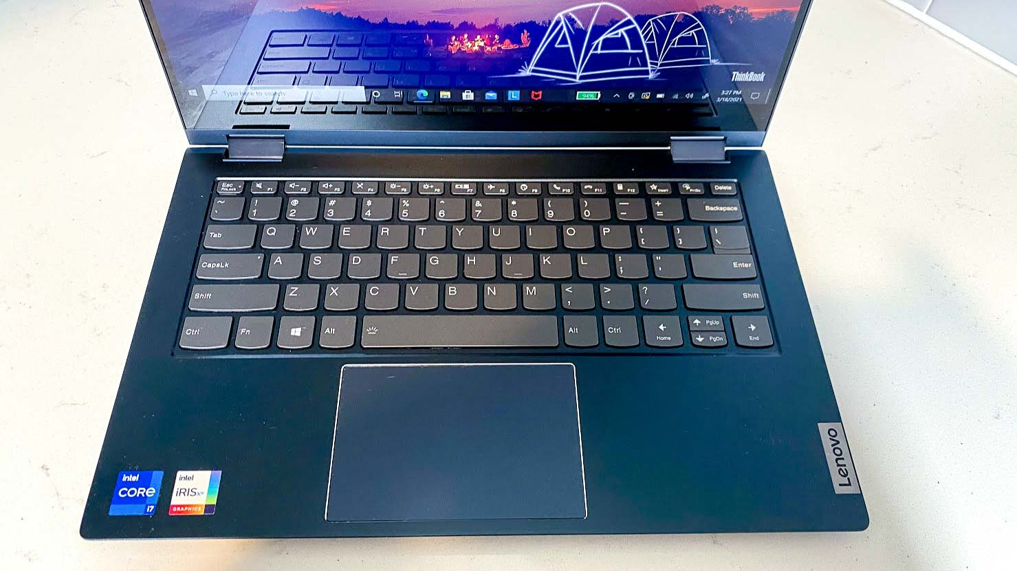 Lenovo ThinkBook 14s Yoga review - keyboard