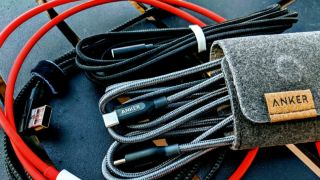 Anker cables in a bundle