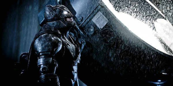 Batman wearing Dark Knight Returns-style armor in Batman v Superman