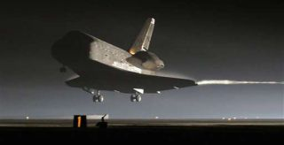 Space Shuttle Lands Safely After Construction Marathon