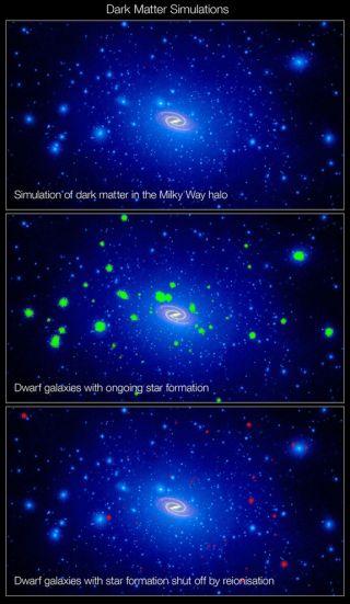 Swarm of Dark Matter Around the Milky Way