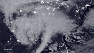 NASA-NOAA's Suomi NPP satellite snapped this image of the approaching blizzard around 2:35 a.m. EST on Jan. 22, 2016 using the Visible Infrared Imaging Radiometer Suite (VIIRS) instrument's Day-Night band.
