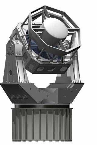 An artist's illustration of DARPA's Space Surveillance Telescope to monitor space junk, micrometeoroids and nanosatellties that could endanger U.S. military satellites in orbit.