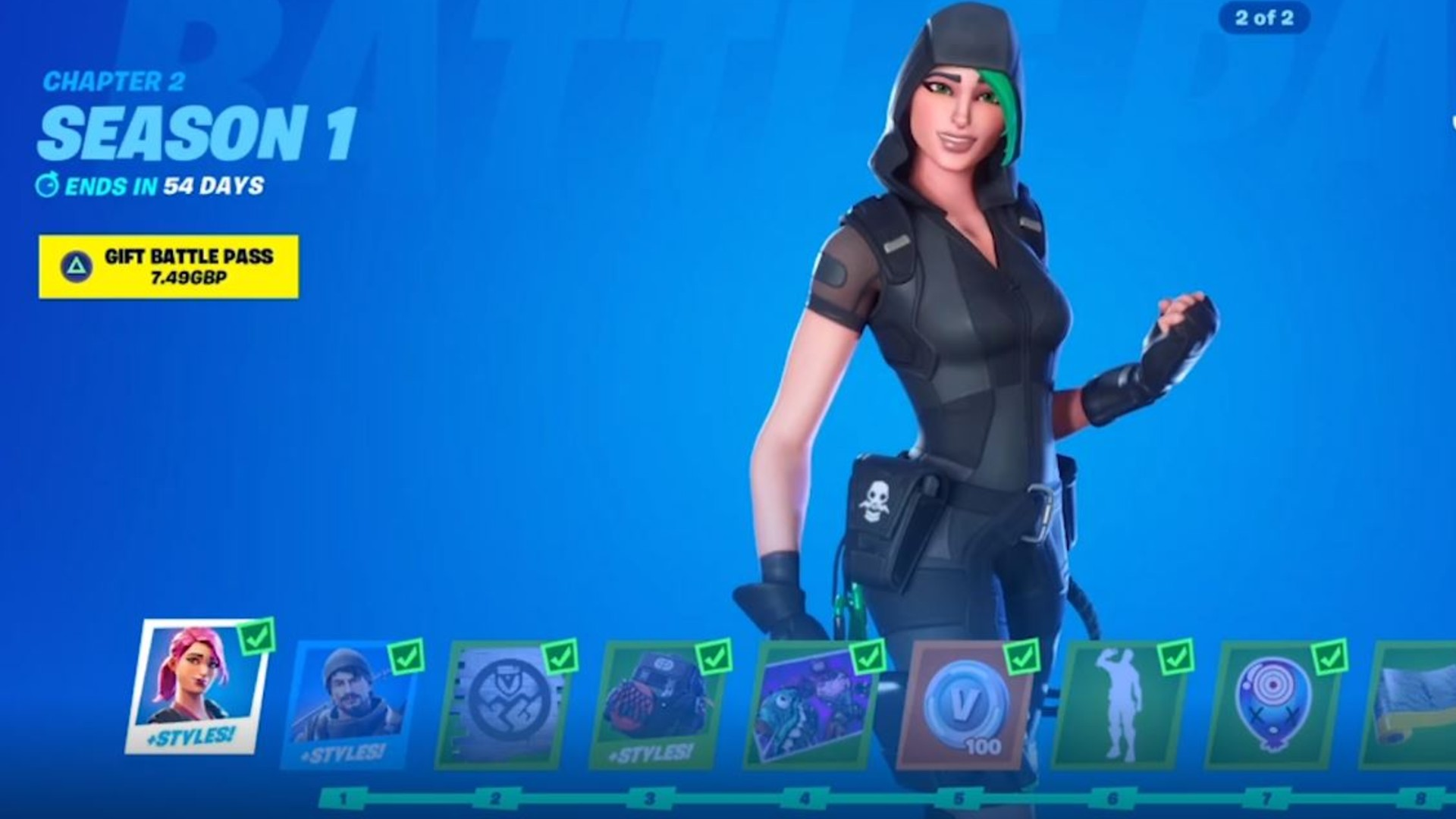 Heres Every Fortnite Chapter 2 Season 1 Battle Pass Item