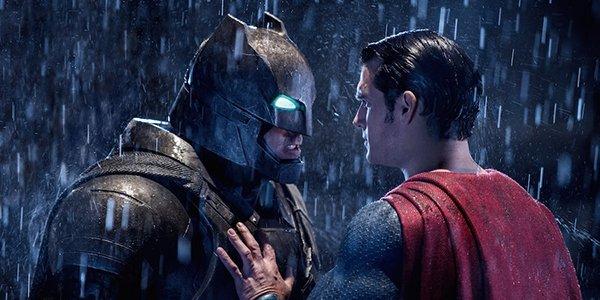 Batman and Superman squaring off