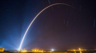 Atlas V Rocket and SBIRS GEO Flight 4 satellite