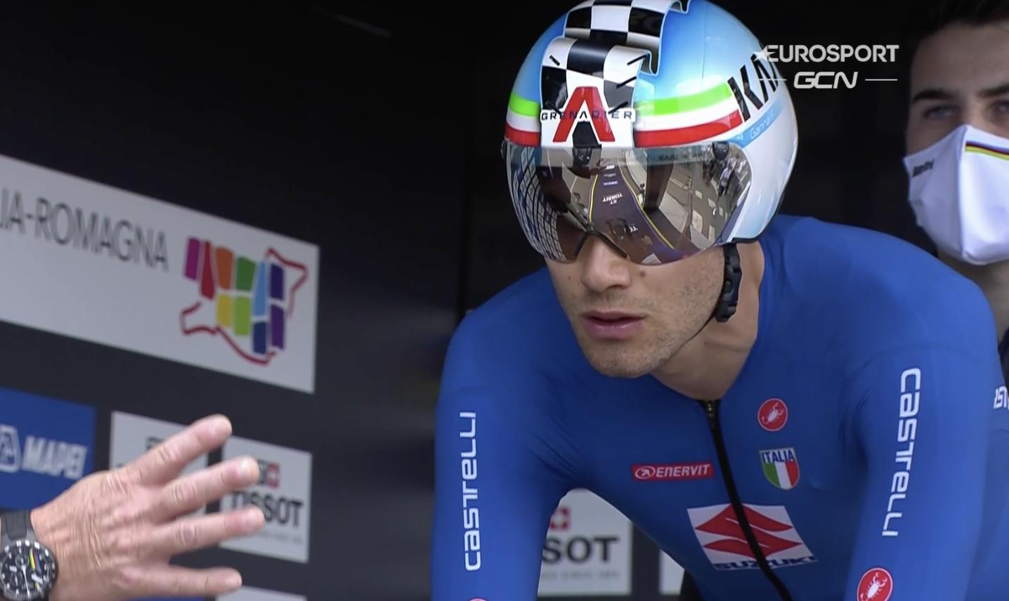 Filippo Ganna helmet Worlds