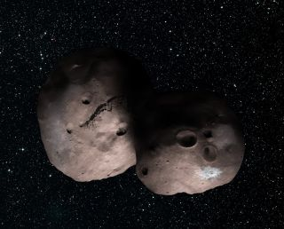 2014 MU69: Artist's Impression of Two Objects