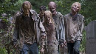 Walkers in 'The Walking Dead'.