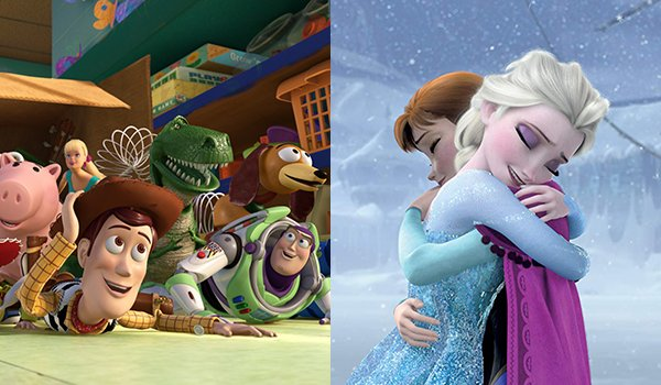 Toy Story 3 and Frozen