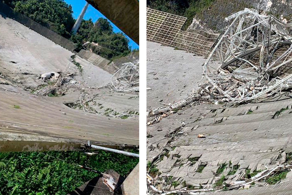 The Arecibo Observatory radio telescope in Puerto Rico has collapsed | Space