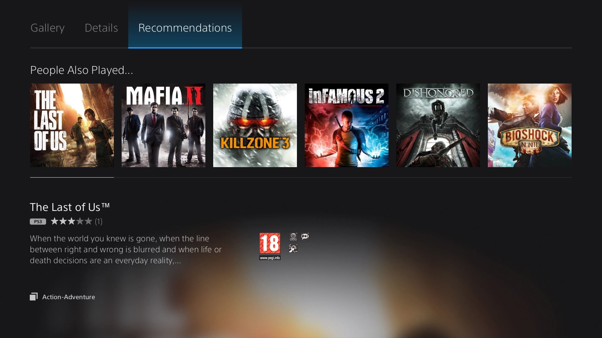 PlayStation Now recommendations
