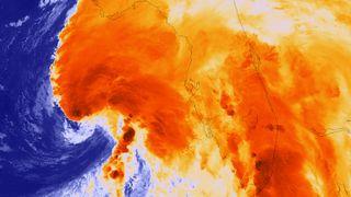 Tropical Storm Andrea satellite image