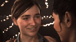 Ellie smiles in The Last of Us Part 2.