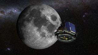 Moon Express' MX-1E Lander in Flight
