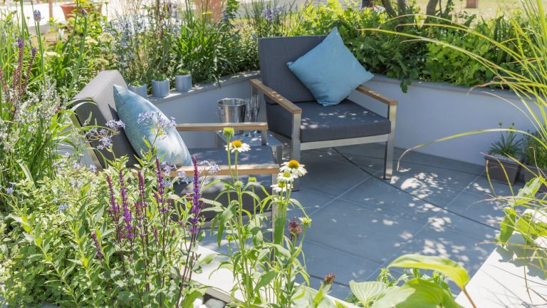 rain gardens: the rain garden designed by Rhiannon Williams for Hampton Court Flower Show 2017