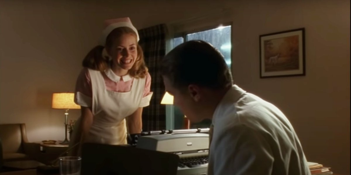 Amy Adams and Leonardo DiCaprio in Catch Me If You Can
