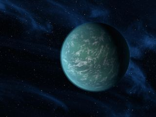 Habitable green exoplanet