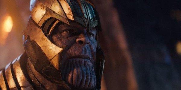 Thanos wearing helmet