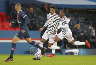 Marcus Rashford hit the winner as Manchester United secured Champions League victory at Paris Saint-Germain.