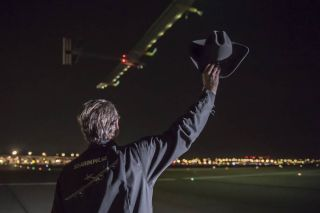 Solar Impulse Plane Departs Dallas
