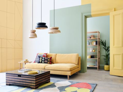 Colour blocking wall ideas: 21 clever ways to add colour to your space    Real Homes
