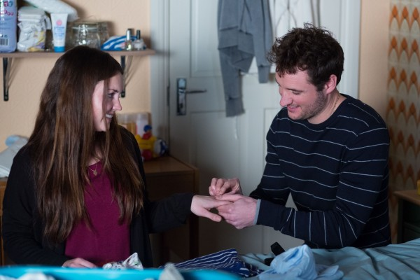 EastEnders' Stacey (Lacey Turner) and Martin (James Bye) get closer