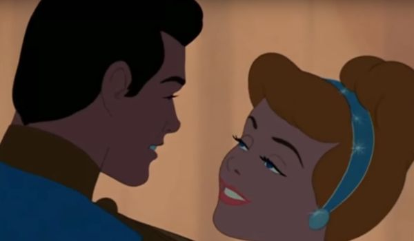 Cinderella dancing with Prince Charming