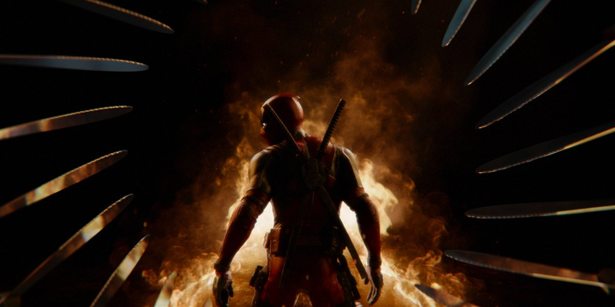 Deadpool in the Deadpool 2 opening credits