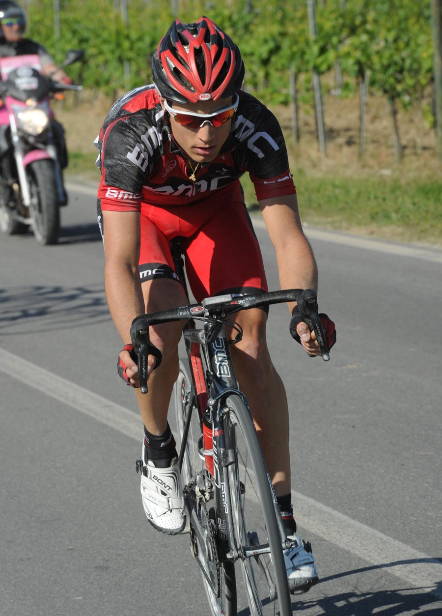 Martin Kohler on long solo break, Giro d