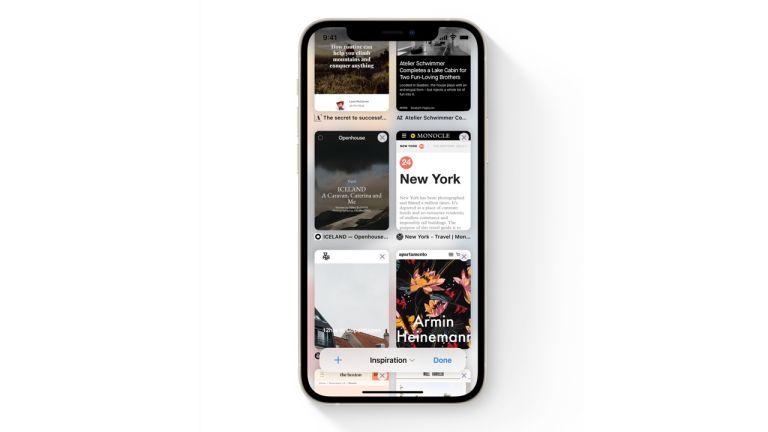 Safari browser in iOS 15 on iPhone 12