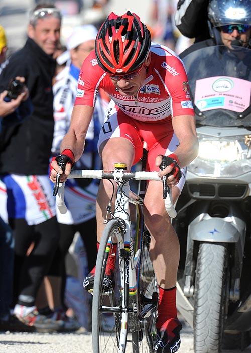 Cadel Evans, Giro d'Italia 2010, stage 16 mountain TT