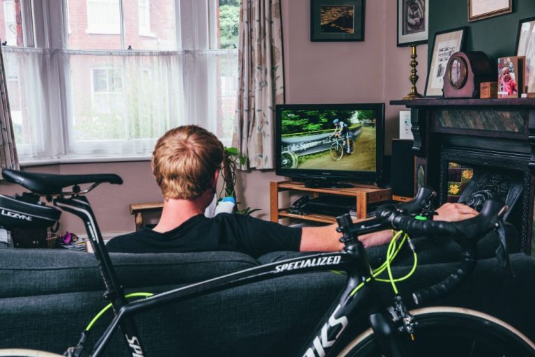 cycling on TV