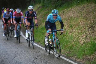 CASTELFIDARDO ITALY MARCH 14 Alex Aranburu Deba of Spain and Team Astana Premier Tech during the 56th TirrenoAdriatico 2021 Stage 5 a 205km stage from Castellalto to Castelfidardo 175m Rain TirrenoAdriatico on March 14 2021 in Castelfidardo Italy Photo by Tim de WaeleGetty Images