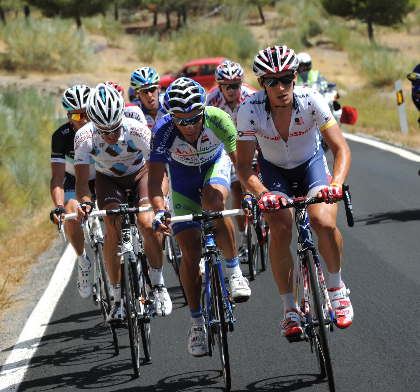 Matthew Busche in escape, Vuelta a Espana 2011, stage four