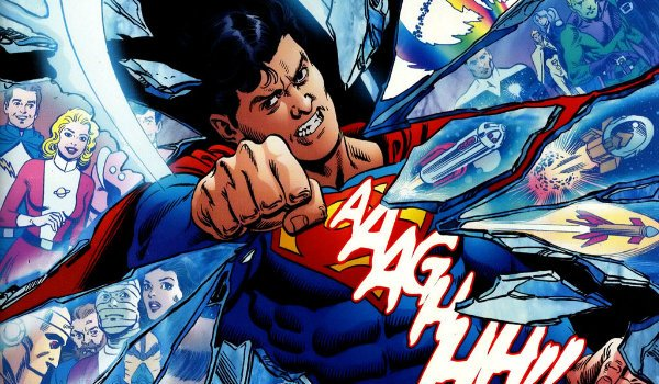 Superboy punching reality infinite crisis