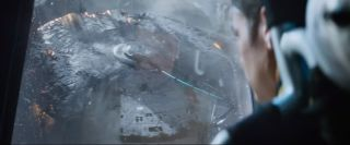 "The U.S.S. Enterprise appears to be torn apart in this scene from the first trailer of ""Star Trek: Beyond,"" which arrives in theaters in July 2016"