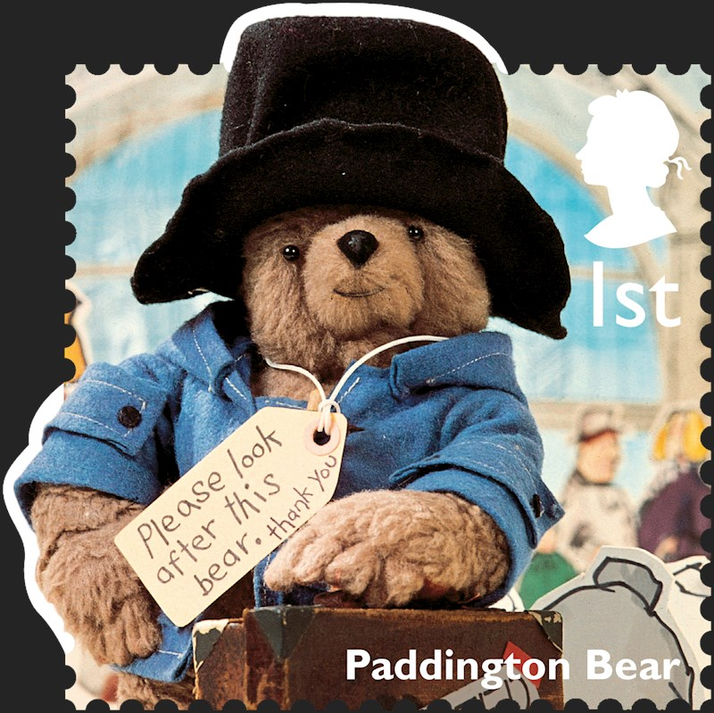 Paddington Bear waiting to be adopted at Paddington Station