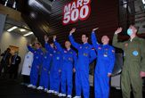 Mock Mars Mission Crew Emerges From 'Spaceship'