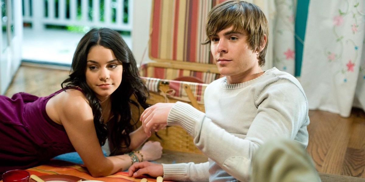 Vanessa Hudgens and Zac Efron as Troy and Gabriella in High School Musical 2