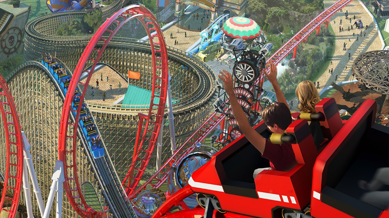 After a decade of construction, this RollerCoaster Tycoon megapark