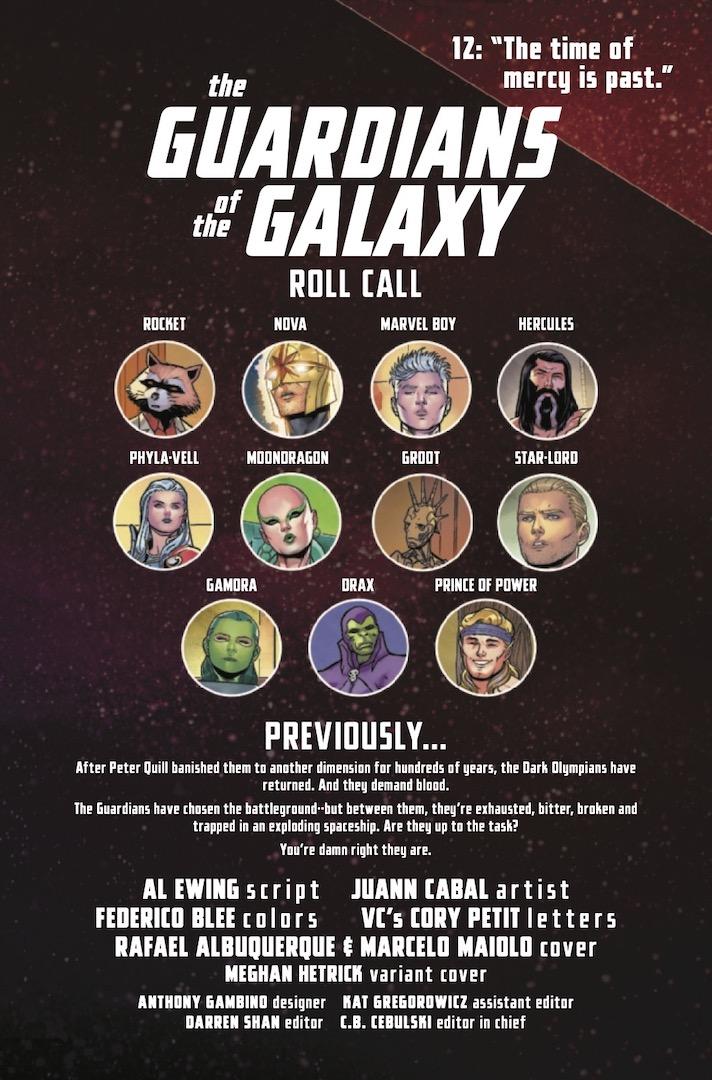 Página de Guardianes de la Galaxia # 12