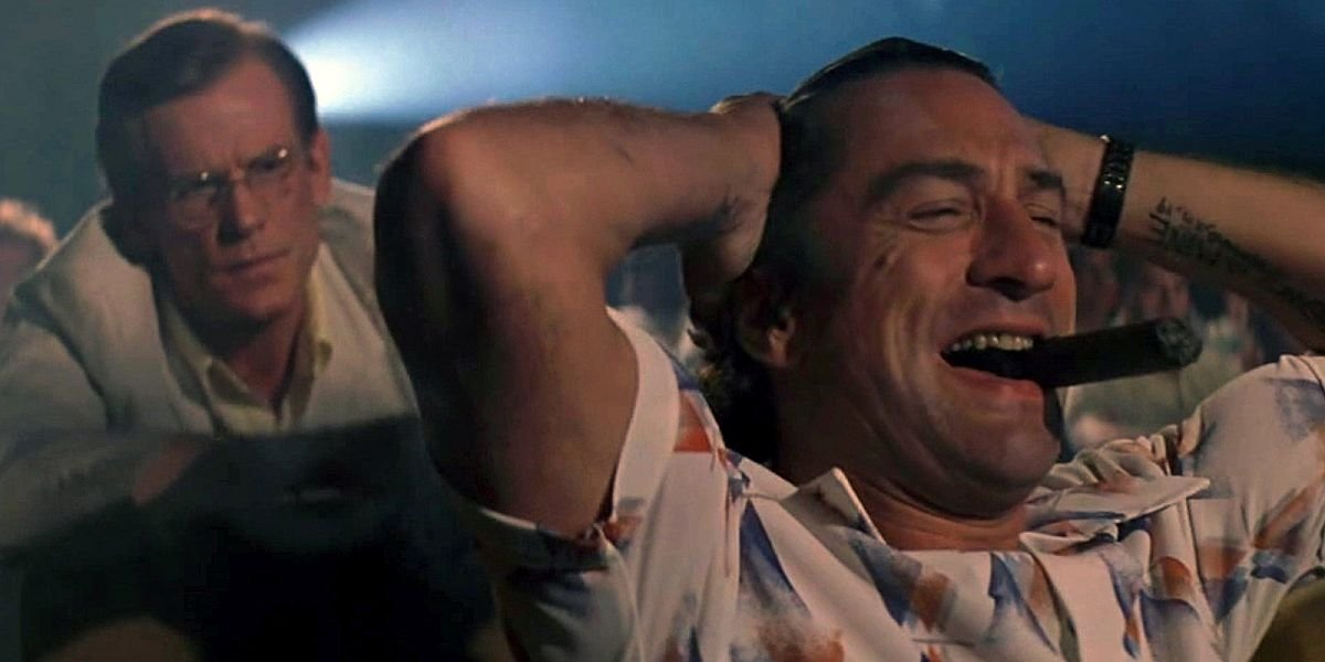 Robert De Niro in a movie theater in Cape Fear