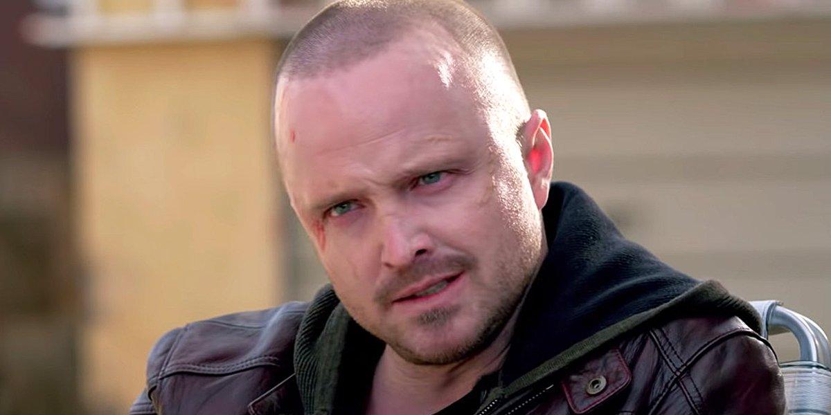 El Camino A Breaking Bad Movie Jesse Pinkman Aaron Paul shaved head Netflix