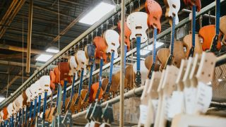 Genuine Gibson guitars are seen being produced at the Gibson USA Factory on July 17, 2019 in Nashville, Tennessee